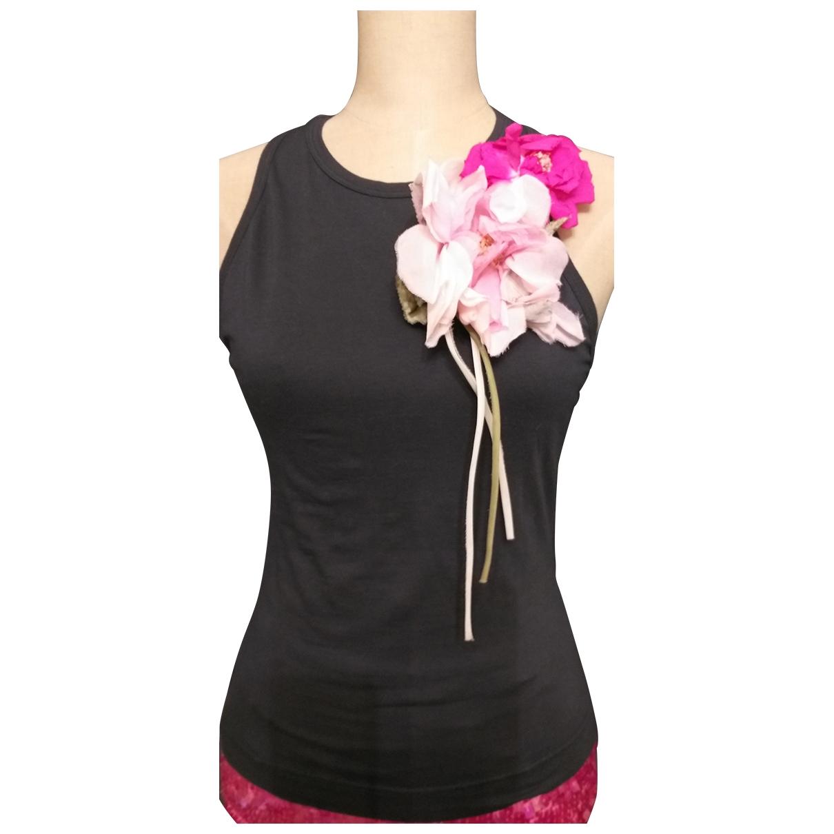 Dolce & Gabbana - Top   pour femme en coton - noir