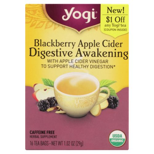 Blackberry Apple Cider Vinegar Digestive Awakening 16 Count by Yogi