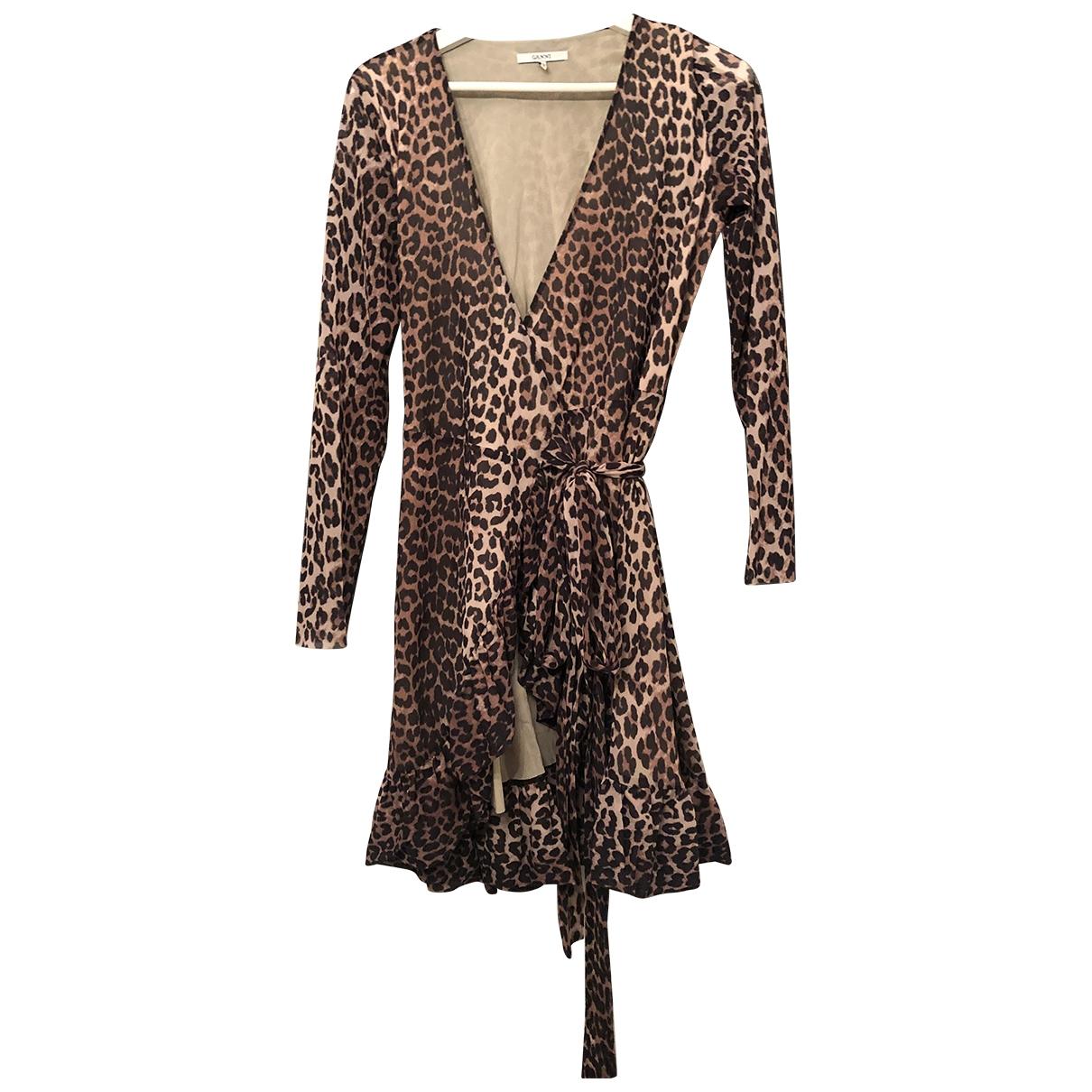 Ganni \N Kleid in  Braun Polyester