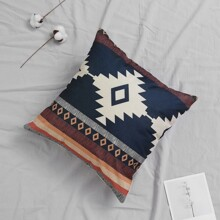 Retro Geometric Pattern Cushion Cover