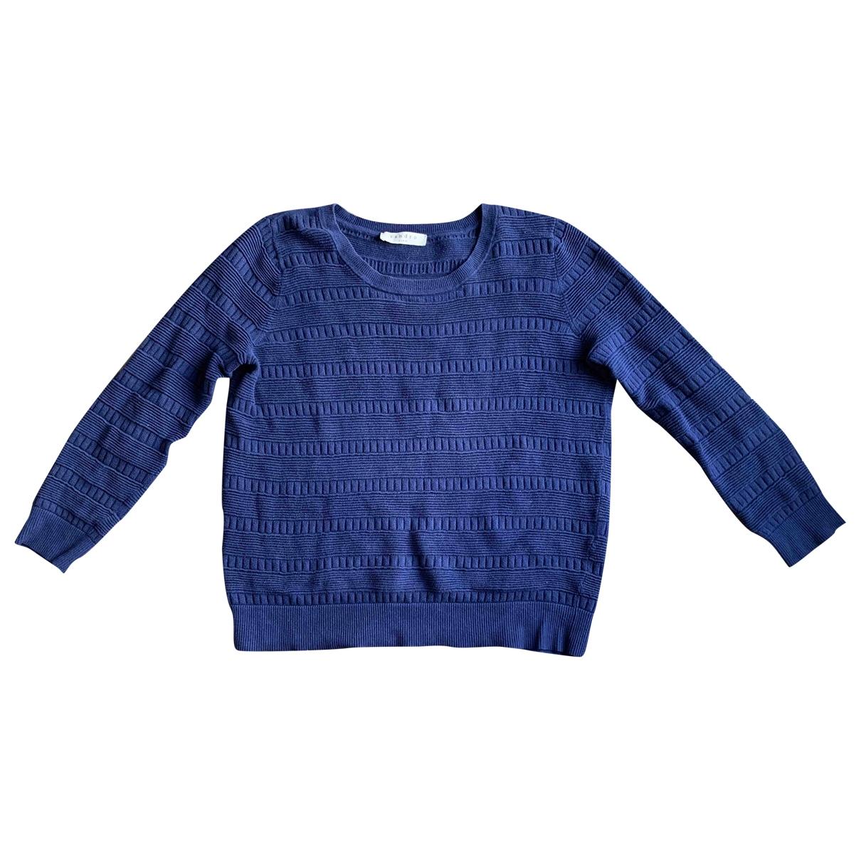 Sandro - Pull   pour femme en coton - bleu