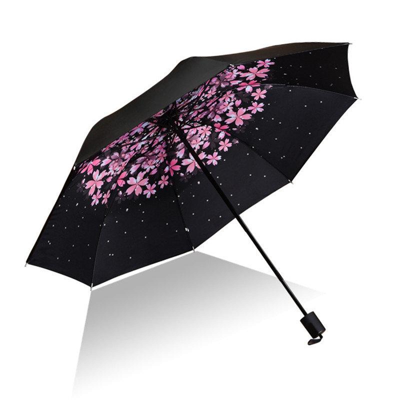 Creative UV Protection Umbrella Tri-Fold Sun Protection Umbrella