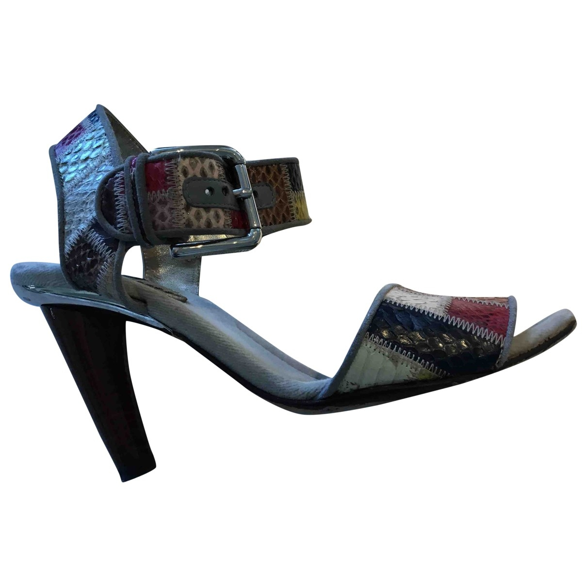 D&g - Sandales   pour femme en cuir - multicolore