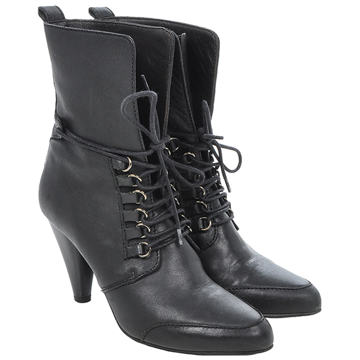 Boss Orange \N Black Leather Ankle boots for Women 37 EU