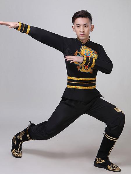 Milanoo Disfraz Halloween Disfraces Tradicionales Chinos Dragon Kung Fu Tang Traje Disfraces de Carnaval Halloween