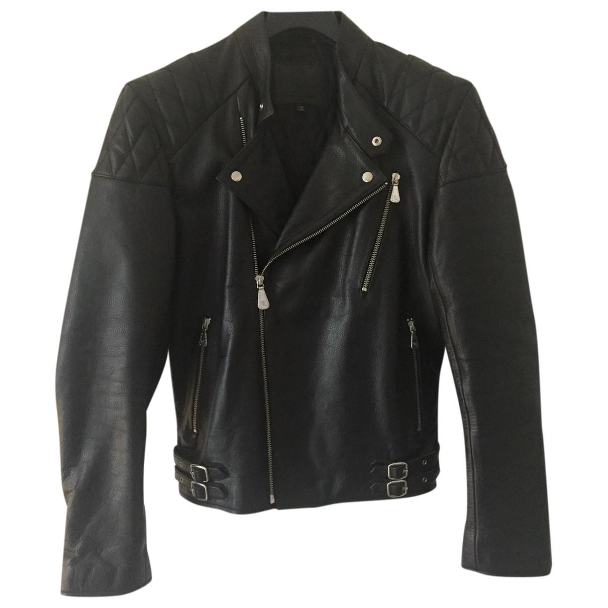 Mcq \N Black Leather jacket  for Men 46 IT