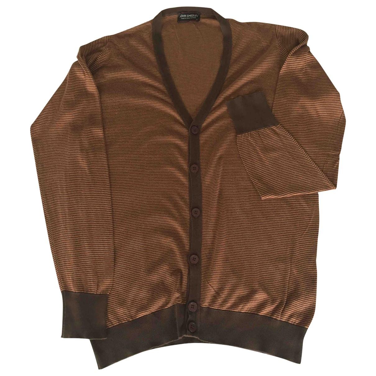 John Smedley \N Pullover.Westen.Sweatshirts  in  Braun Baumwolle