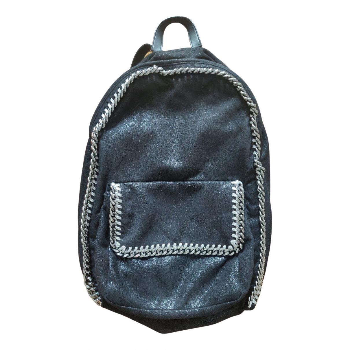 Stella Mccartney Falabella Go Black Cloth backpack for Women \N