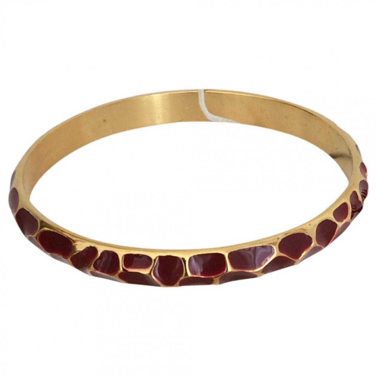 Just Cavalli \N Armband in  Bordeauxrot Stahl