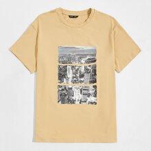 T-Shirt mit Bild Muster