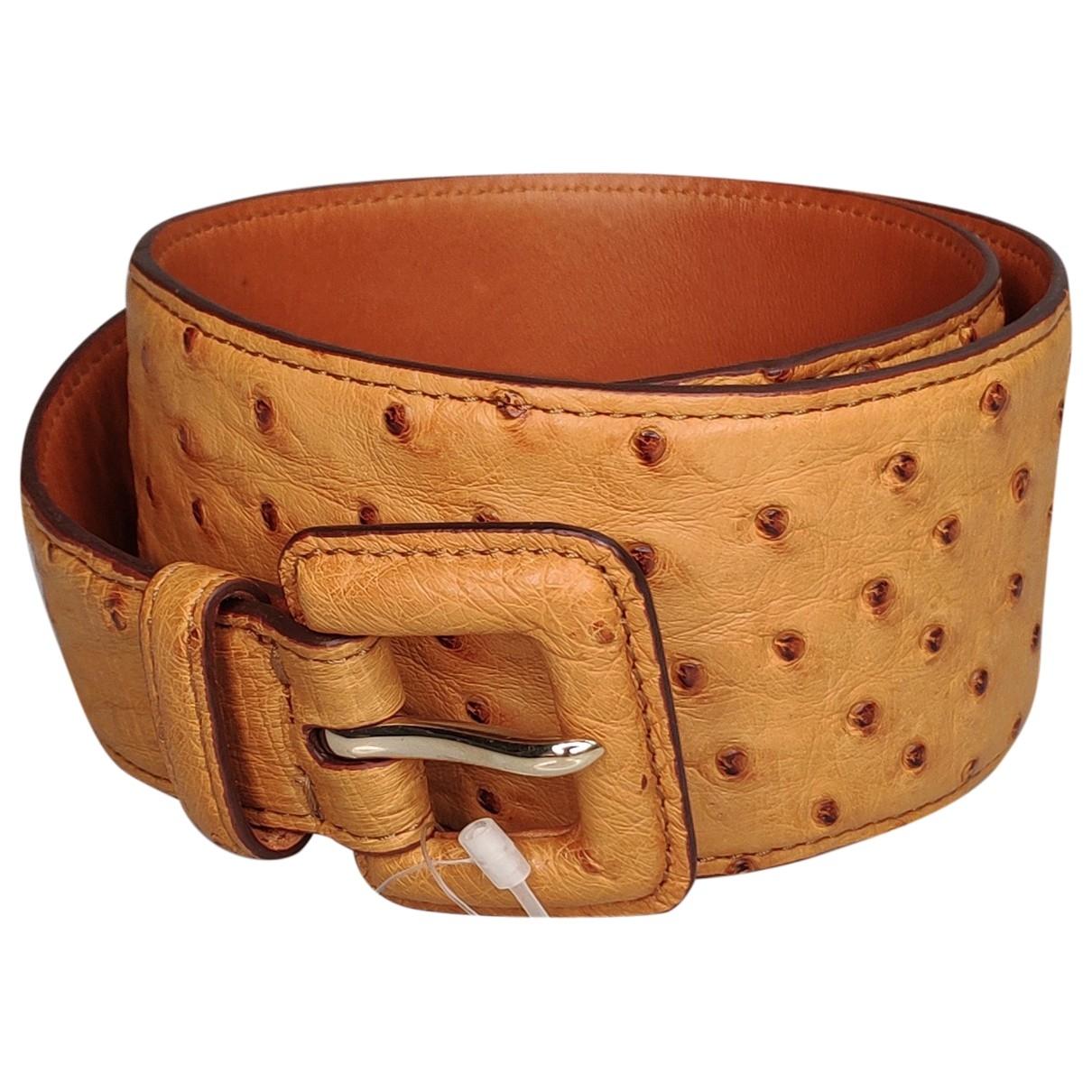Cinturon de Avestruz Ralph Lauren