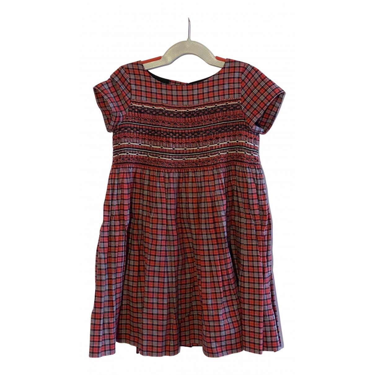 Bonpoint - Robe    pour enfant en coton - rouge