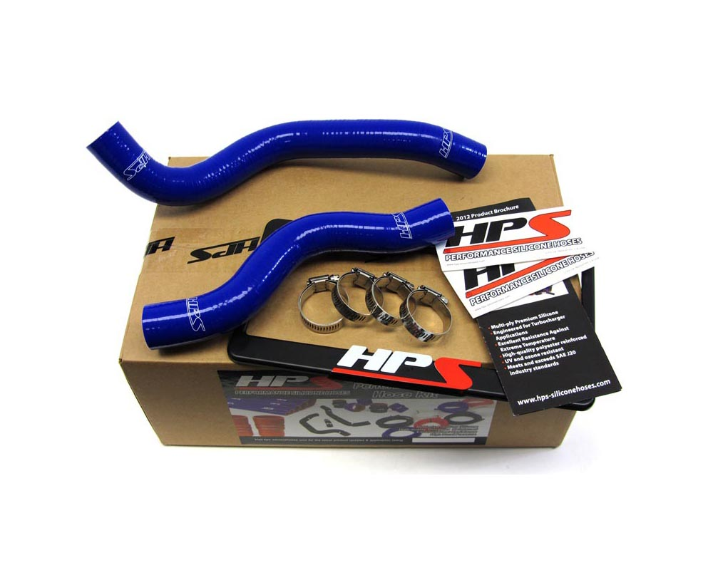 HPS Blue Reinforced Silicone Radiator Hose Kit Coolant for Honda 12-15 Civic Non Si 1.8L
