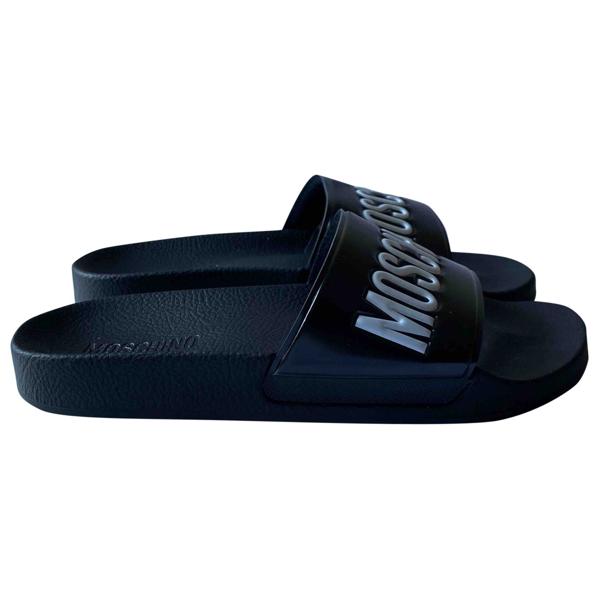 Moschino \N Black Rubber Sandals for Women 40 IT
