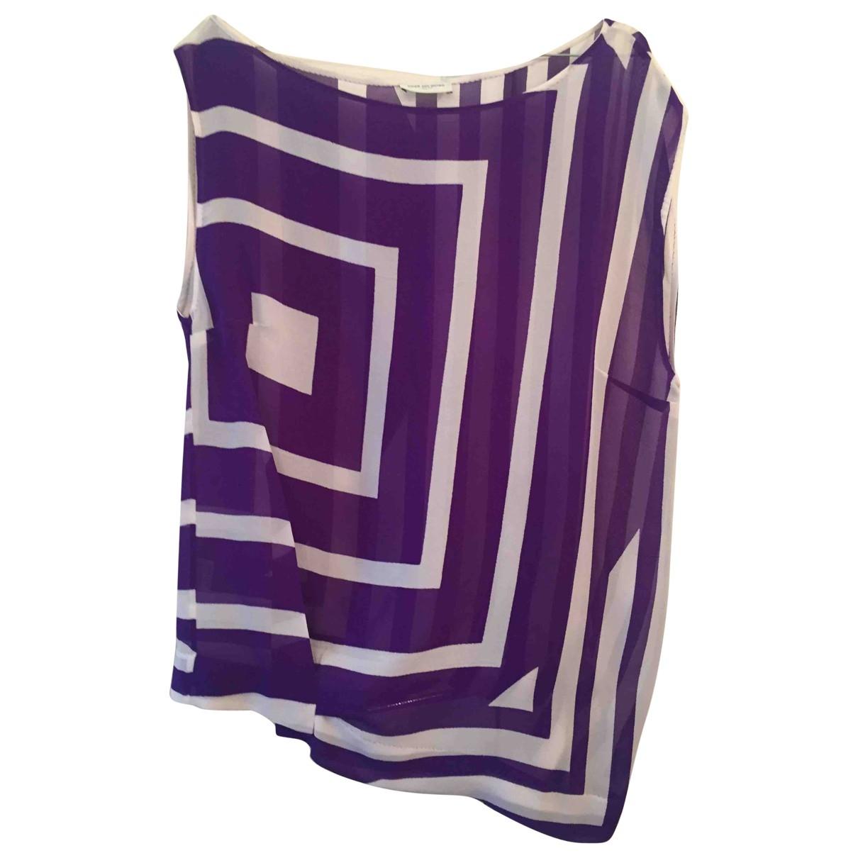 Dries Van Noten \N Purple Silk  top for Women 44 FR