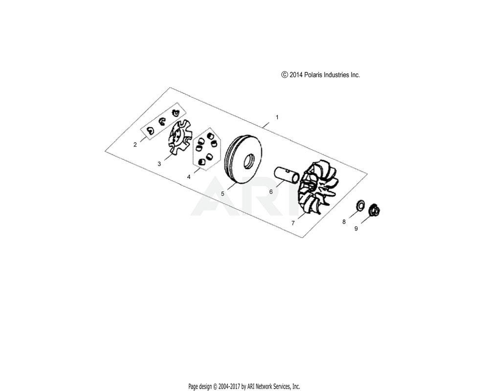 Polaris OEM 0454464 PLATE, SHEAVE
