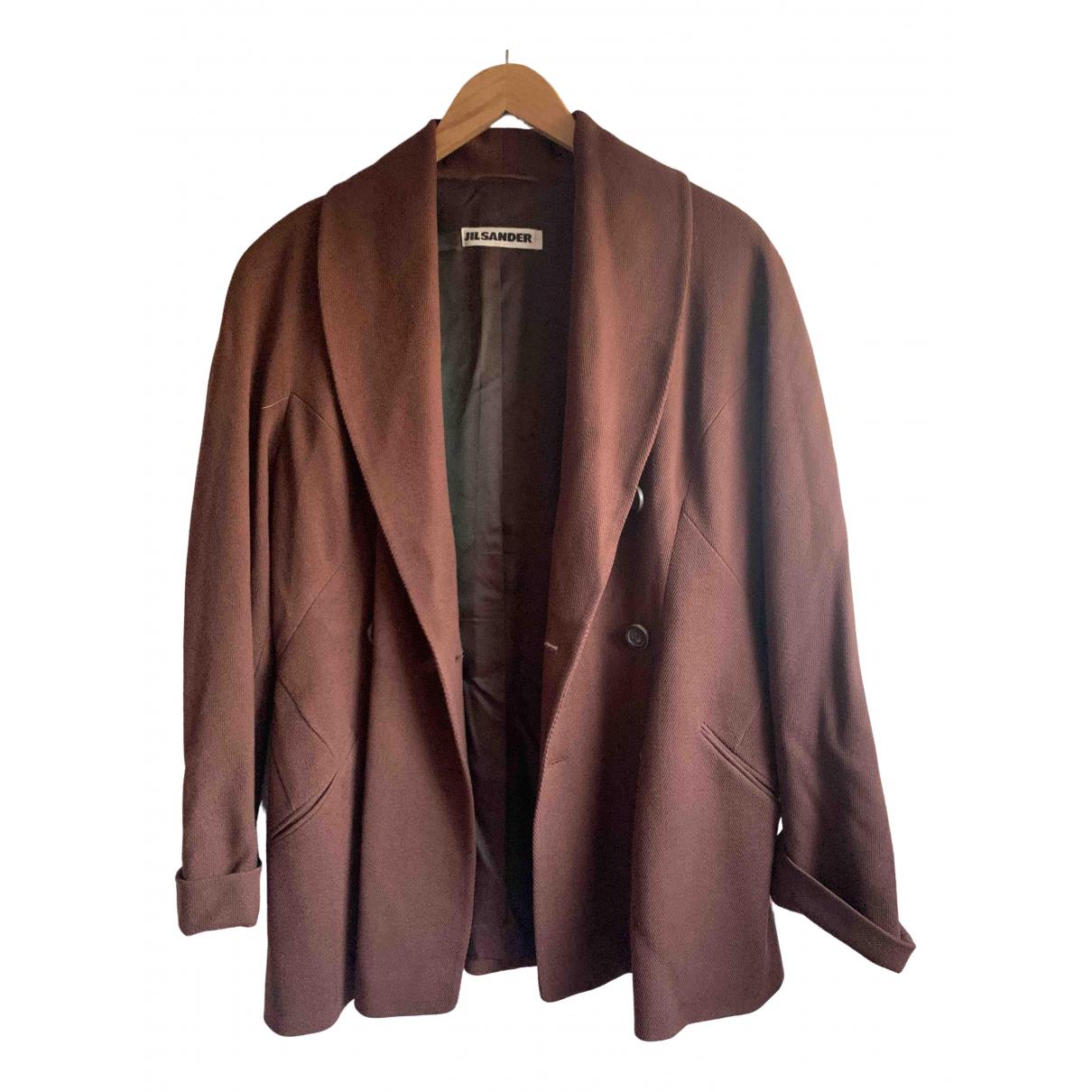 Jil Sander - Veste   pour femme en coton - marron