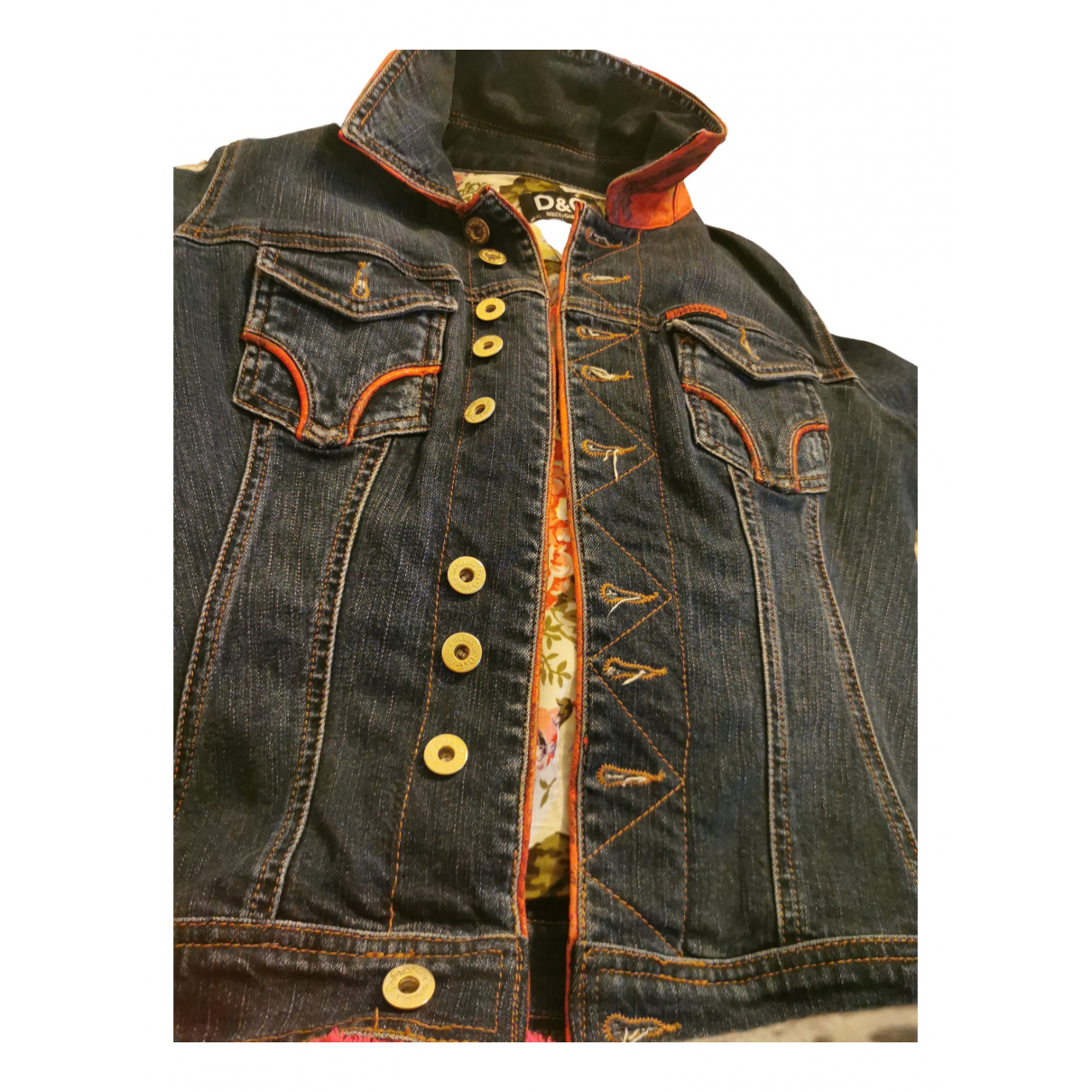 D&g N Blue Denim - Jeans jacket for Women 42 FR
