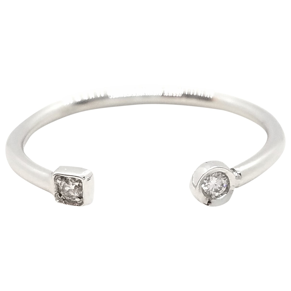 Autre Marque \N Ring in  Silber Weissgold