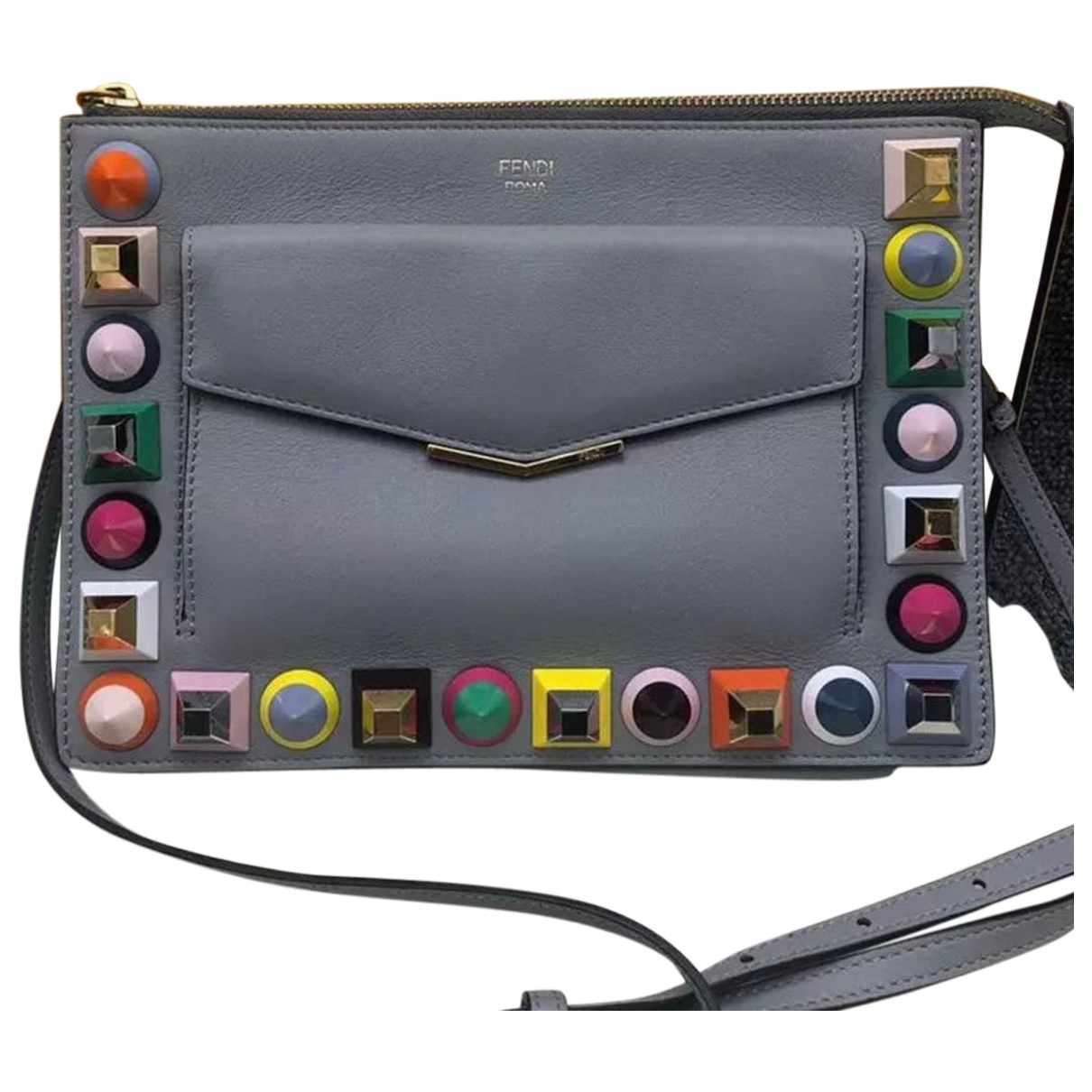 Fendi \N Grey Leather handbag for Women \N
