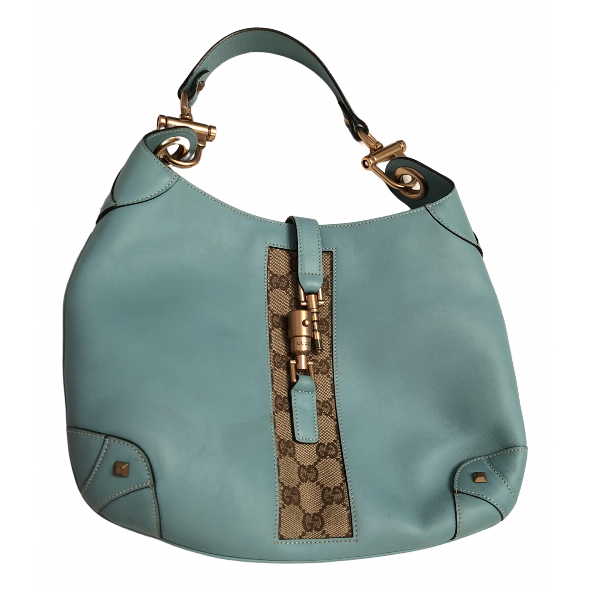 Gucci Jackie Turquoise Leather handbag for Women \N