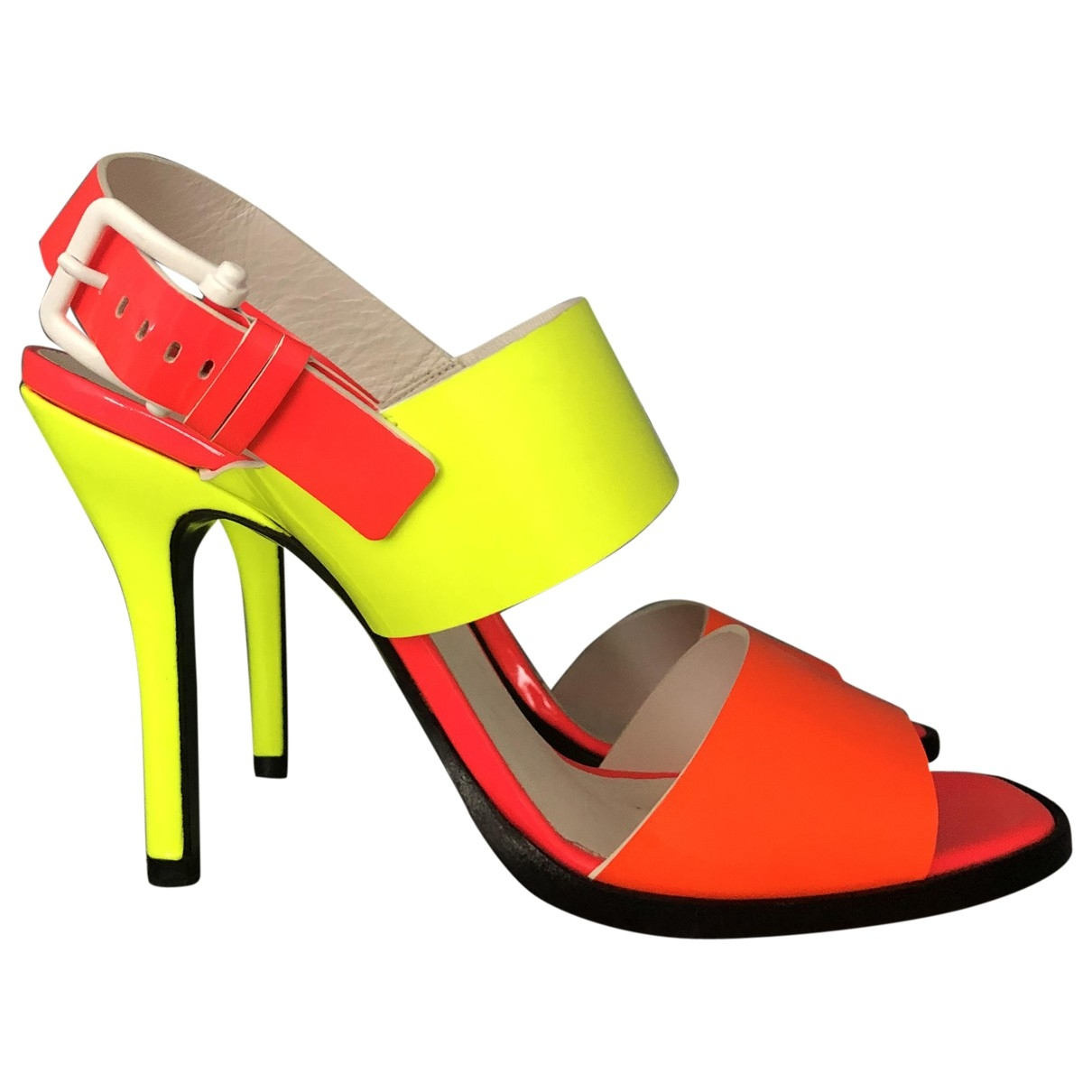 Jil Sander - Sandales   pour femme en cuir verni - multicolore