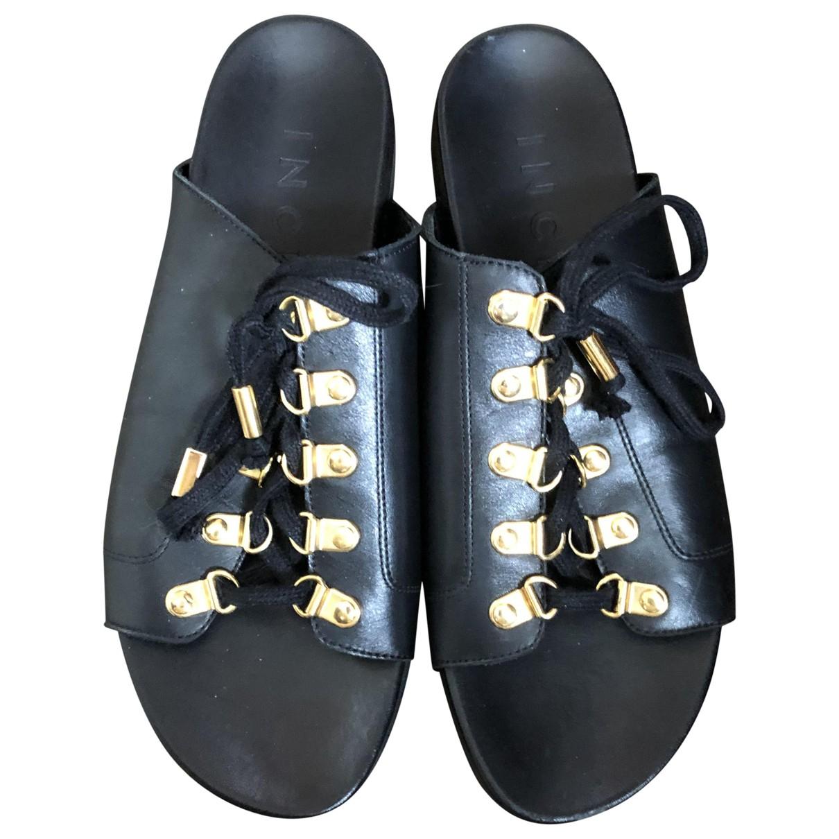 Inch2 \N Sandalen in  Schwarz Leder
