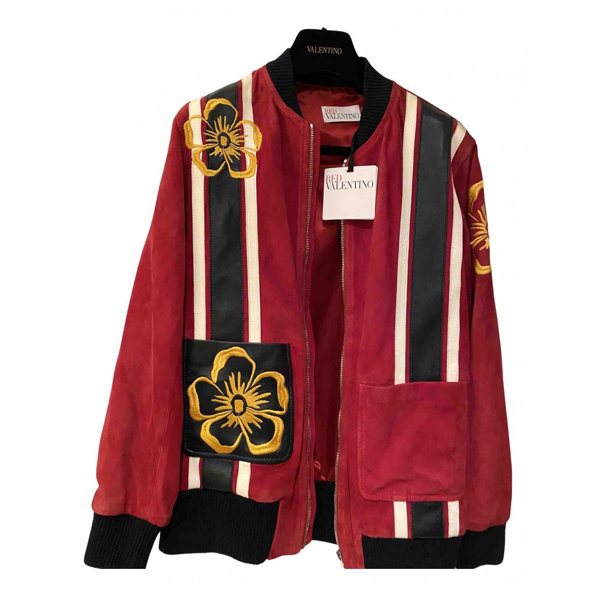 Red Valentino Garavani \N Red Suede jacket for Women S International