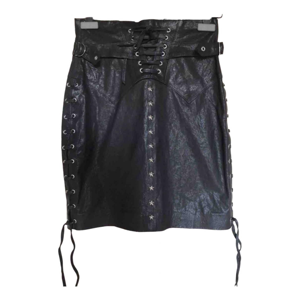 Isabel Marant \N Black Leather skirt for Women 38 FR