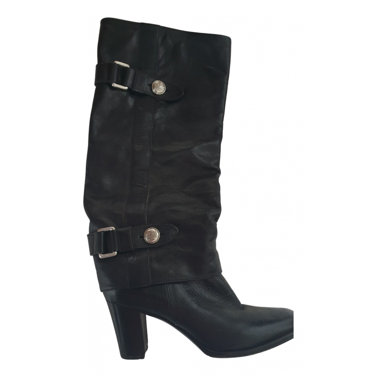 Coach N Black Leather Boots for Women 7.5 US