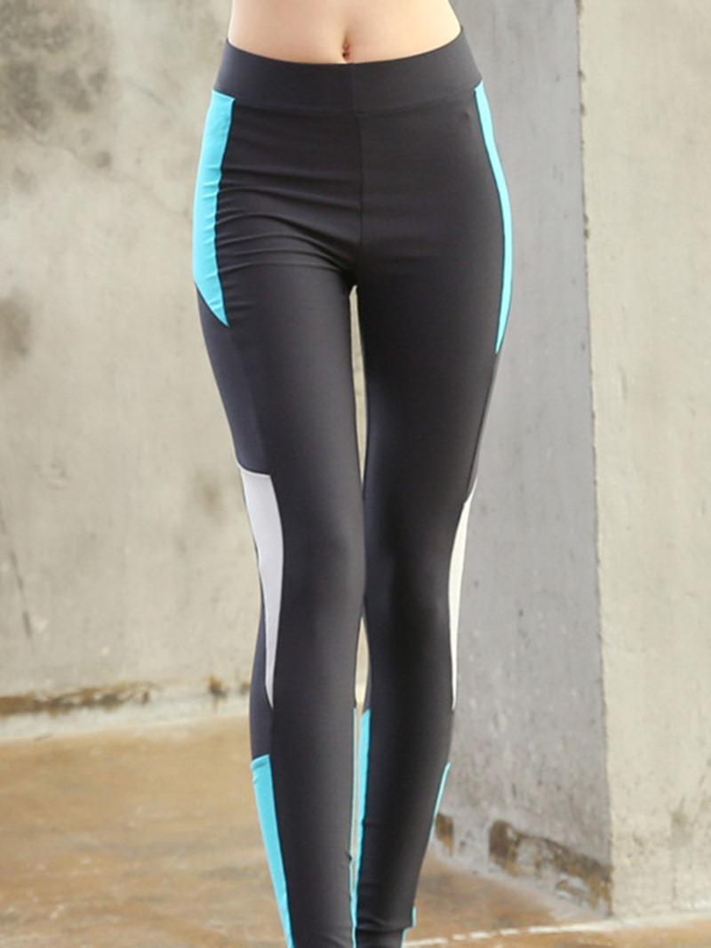 Ericdress Polyester Anti-Sweat Patchwork Color Block Female Leggings