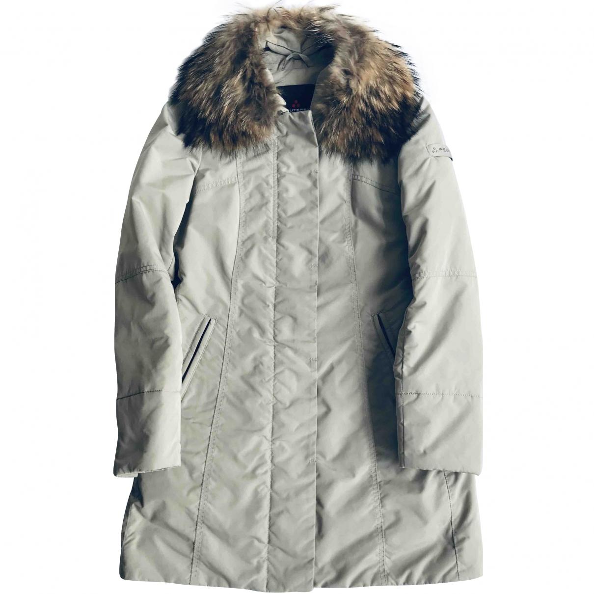 Peuterey - Manteau   pour femme en fourrure - gris