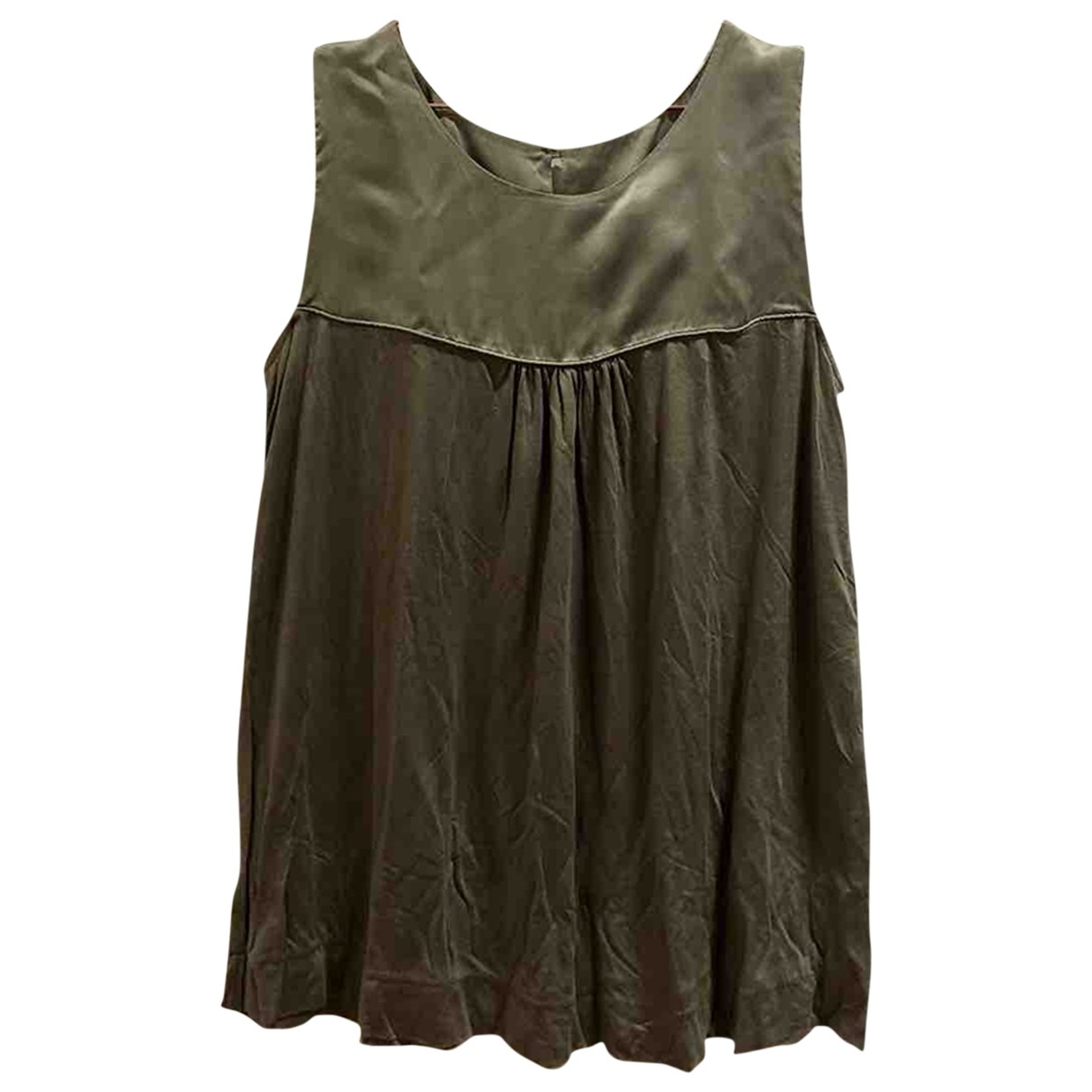 Basler - Top   pour femme en soie - kaki