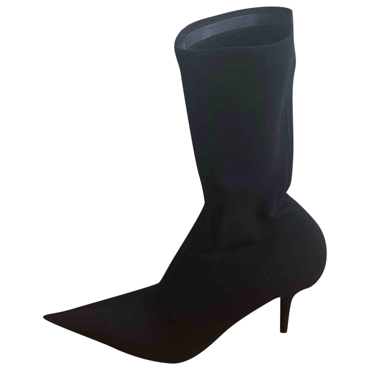 Balenciaga - Bottes Knife pour femme en toile - noir