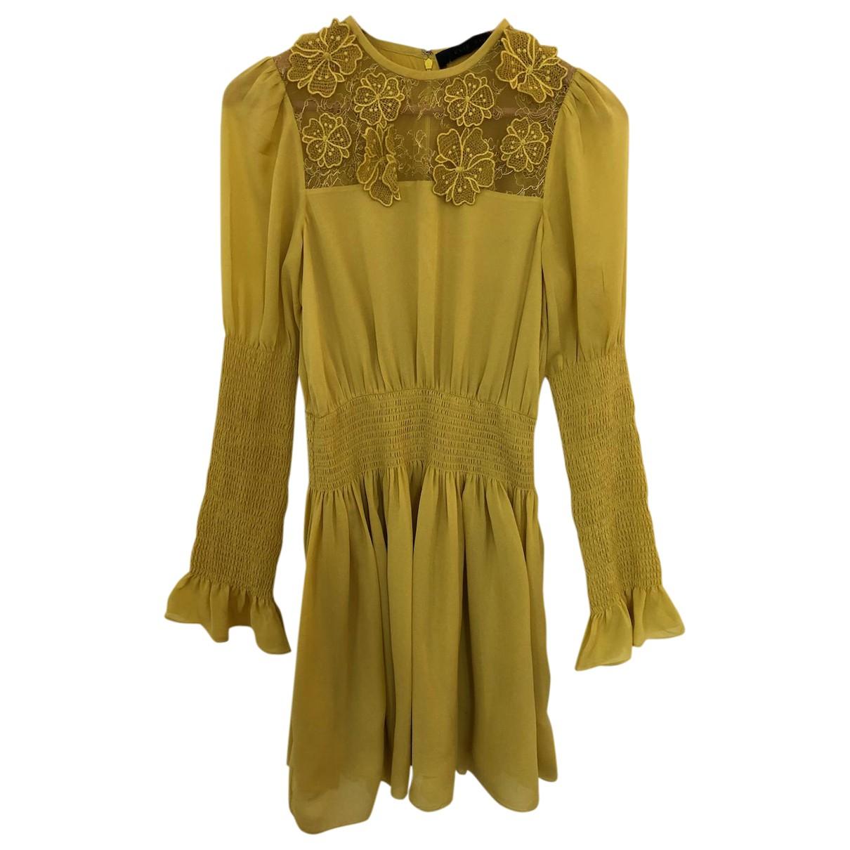 Elie Saab \N Kleid in  Gelb Seide