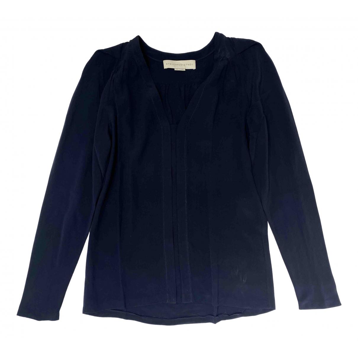 Stella Mccartney \N Navy Silk  top for Women 38 IT