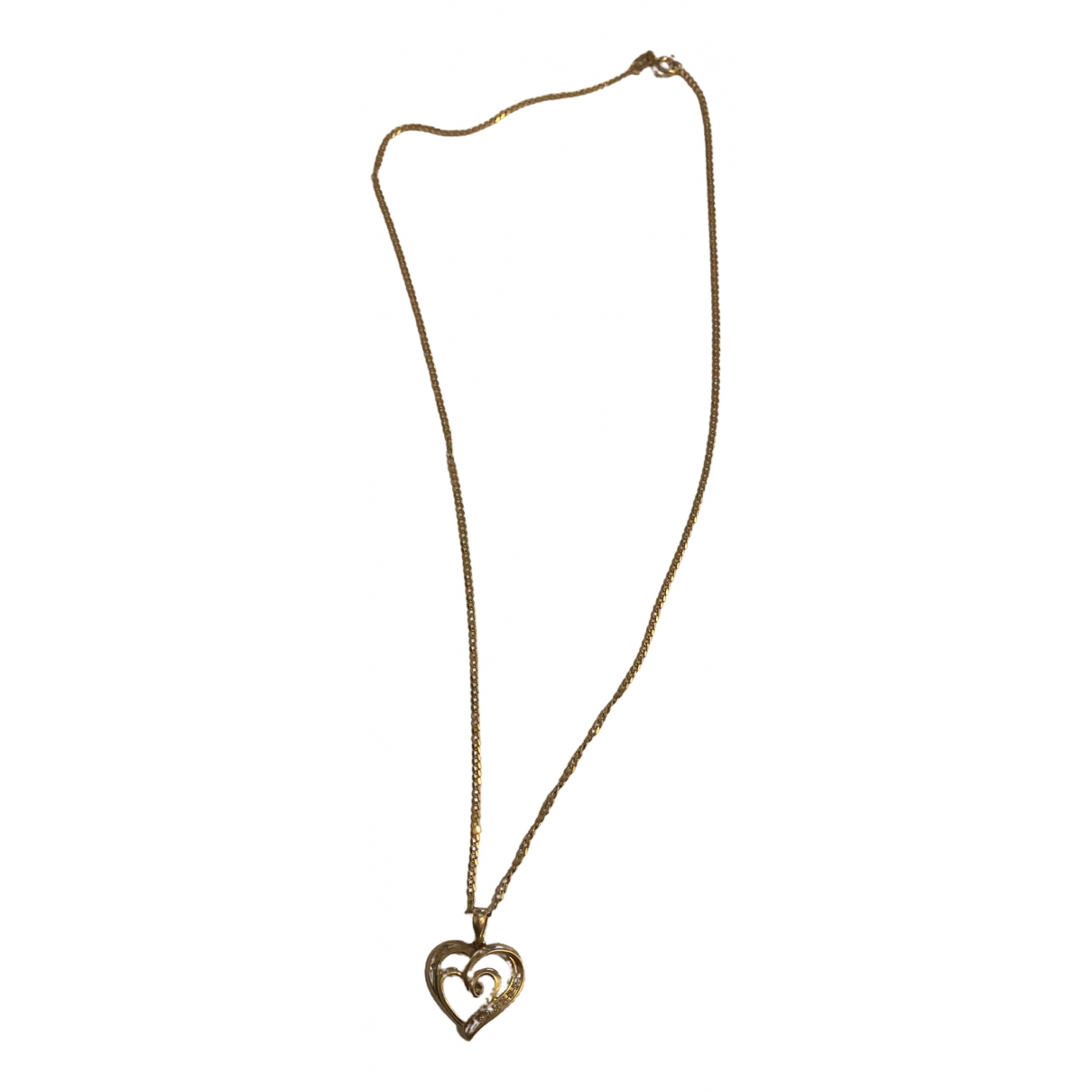 - Collier Motifs Coeurs pour femme en or jaune - jaune