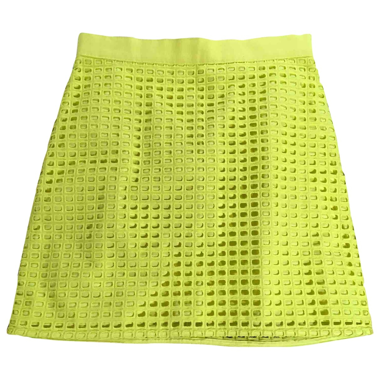 Non Signé / Unsigned \N Yellow Cotton skirt for Women S International