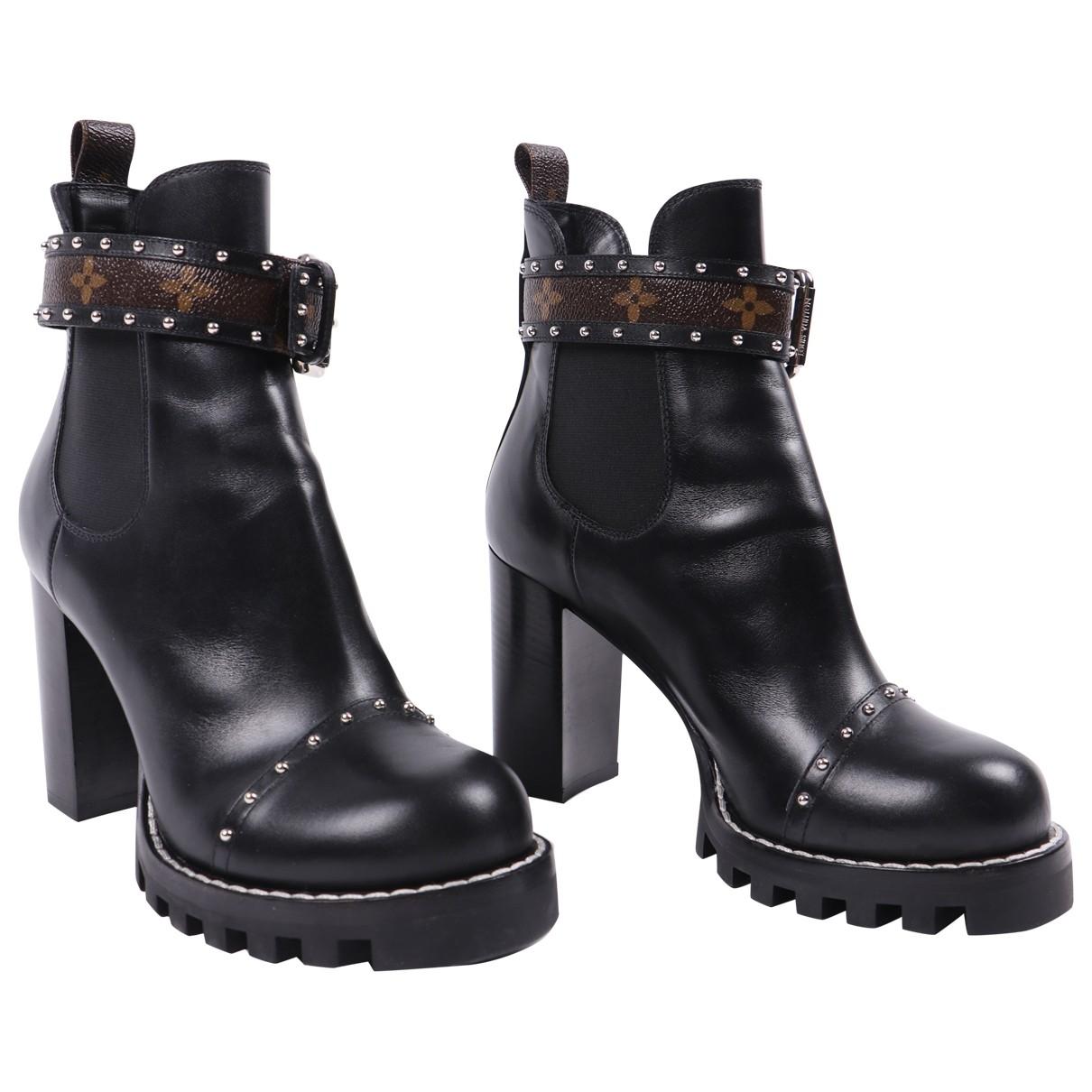 Louis Vuitton - Boots Star Trail pour femme en cuir - noir