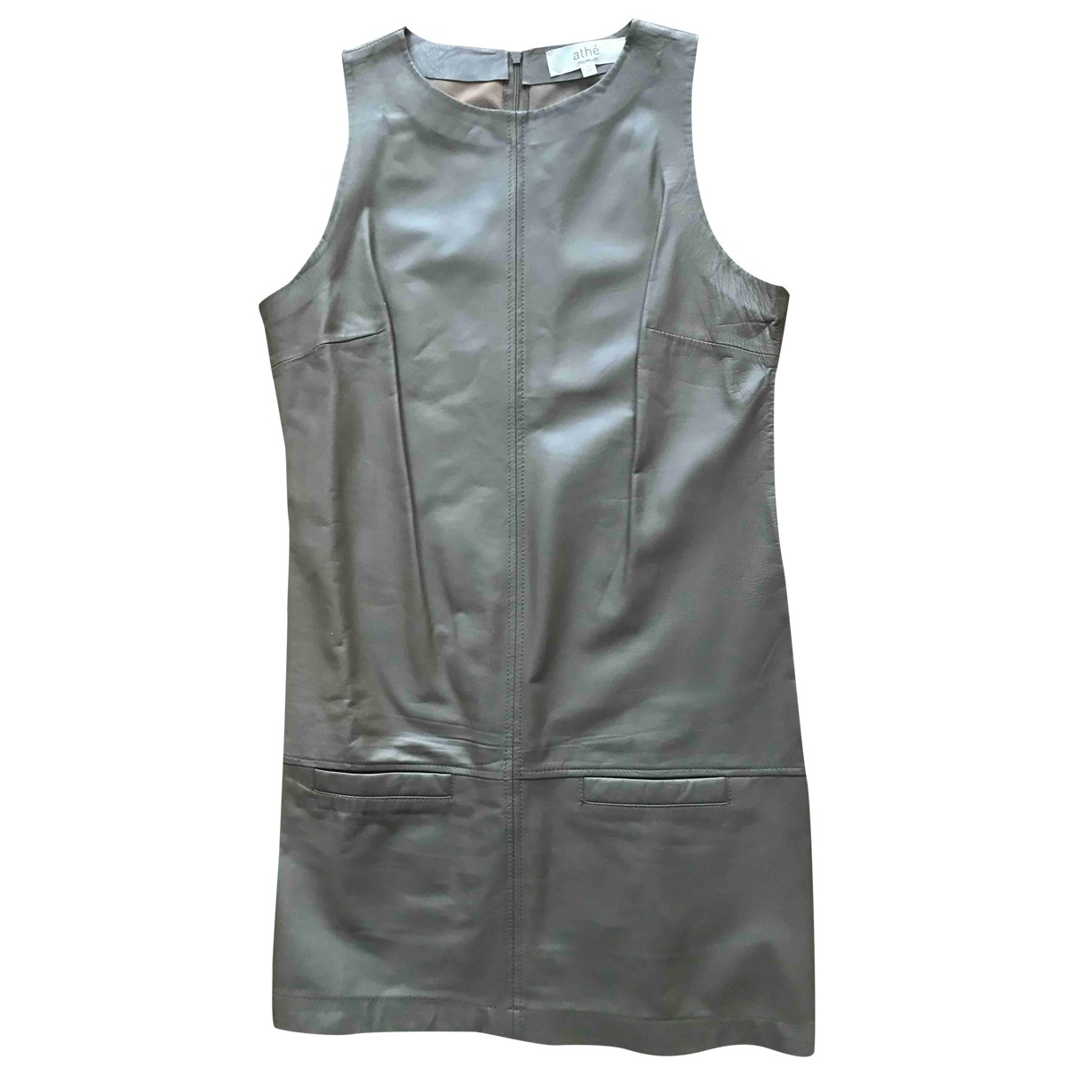 Vanessa Bruno Athe \N Kleid in  Khaki Leder
