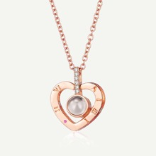 Heart Pendant Projection Necklace