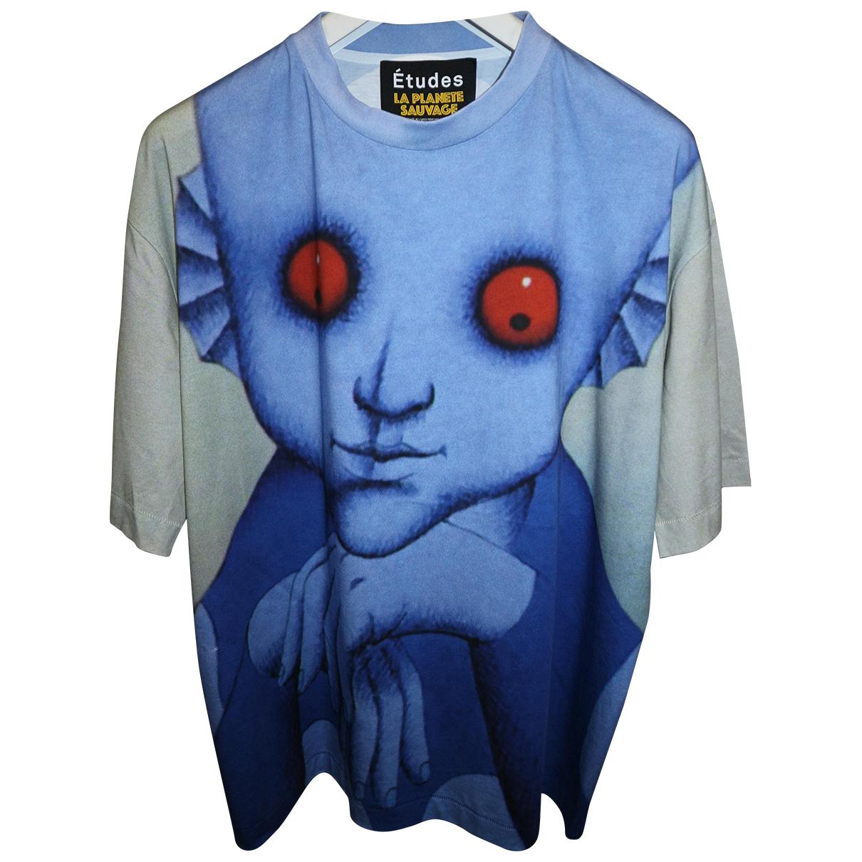 Études Studio N Blue Cotton T-shirts for Men XL International