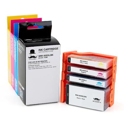Compatible HP 920XL cartouche d'encre combo haute capacité BK/C/M/Y - Moustache®