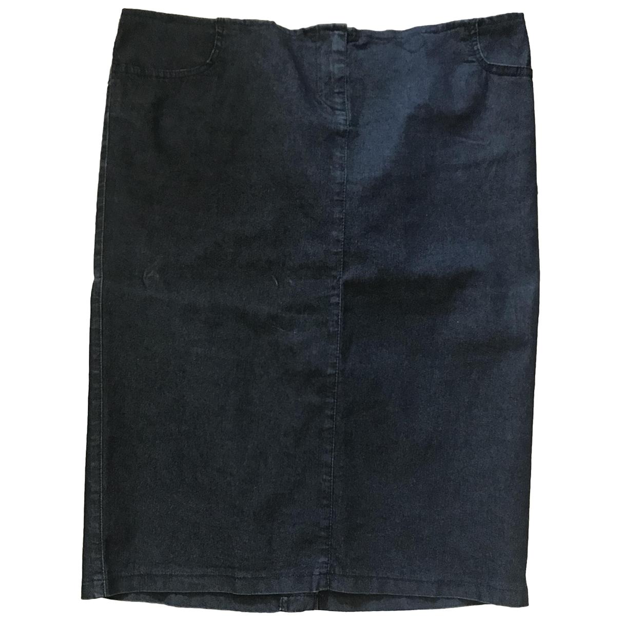 Armani Jeans \N Blue Cotton skirt for Women 40 FR