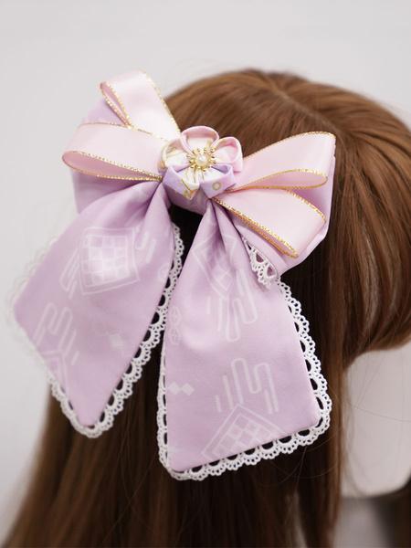 Milanoo Chinese Style Lolita Headdress Blue Lace Polyester Fiber Accessory Flowers Lolita Headband