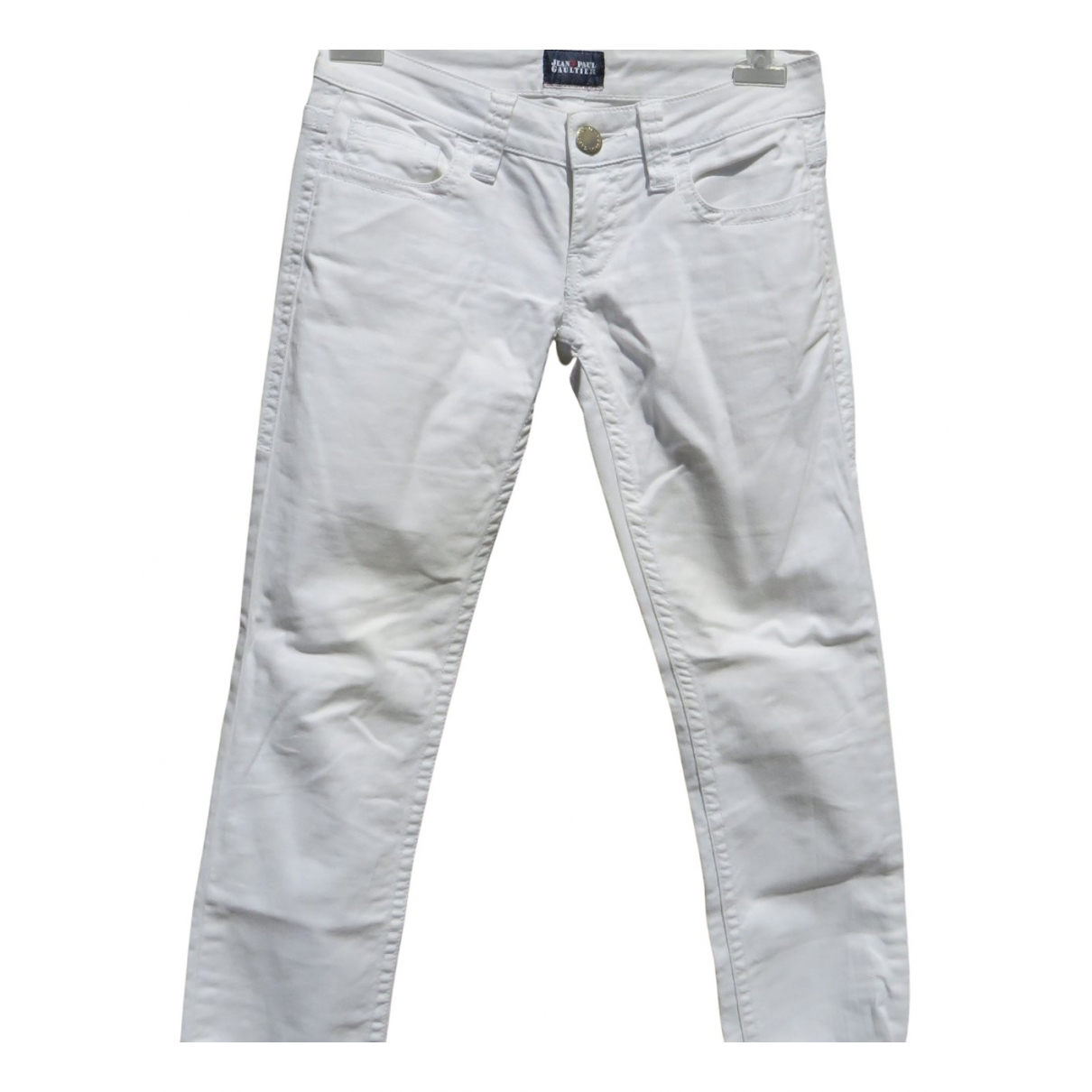 Jean Paul Gaultier N White Cotton Jeans for Women 25 US