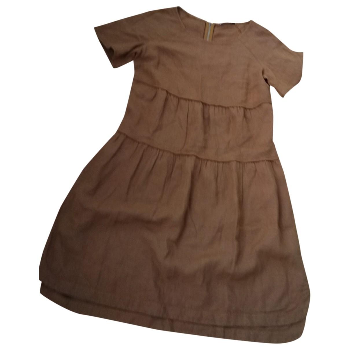 Marella \N Kleid in  Kamel Leinen