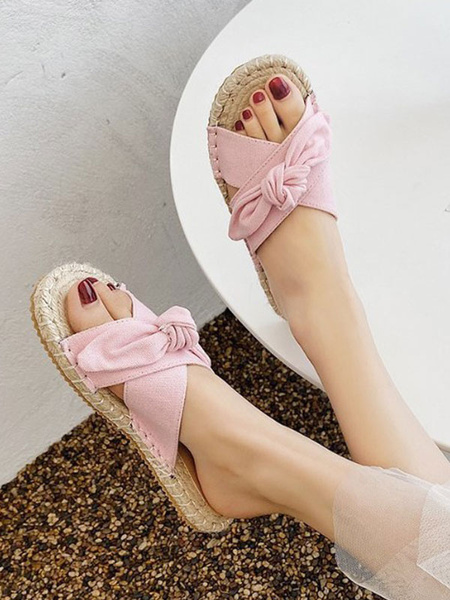 Milanoo Women\'s Slipper Shoes Micro Suede Rubber Outdoor Women\'s Summer Shoes
