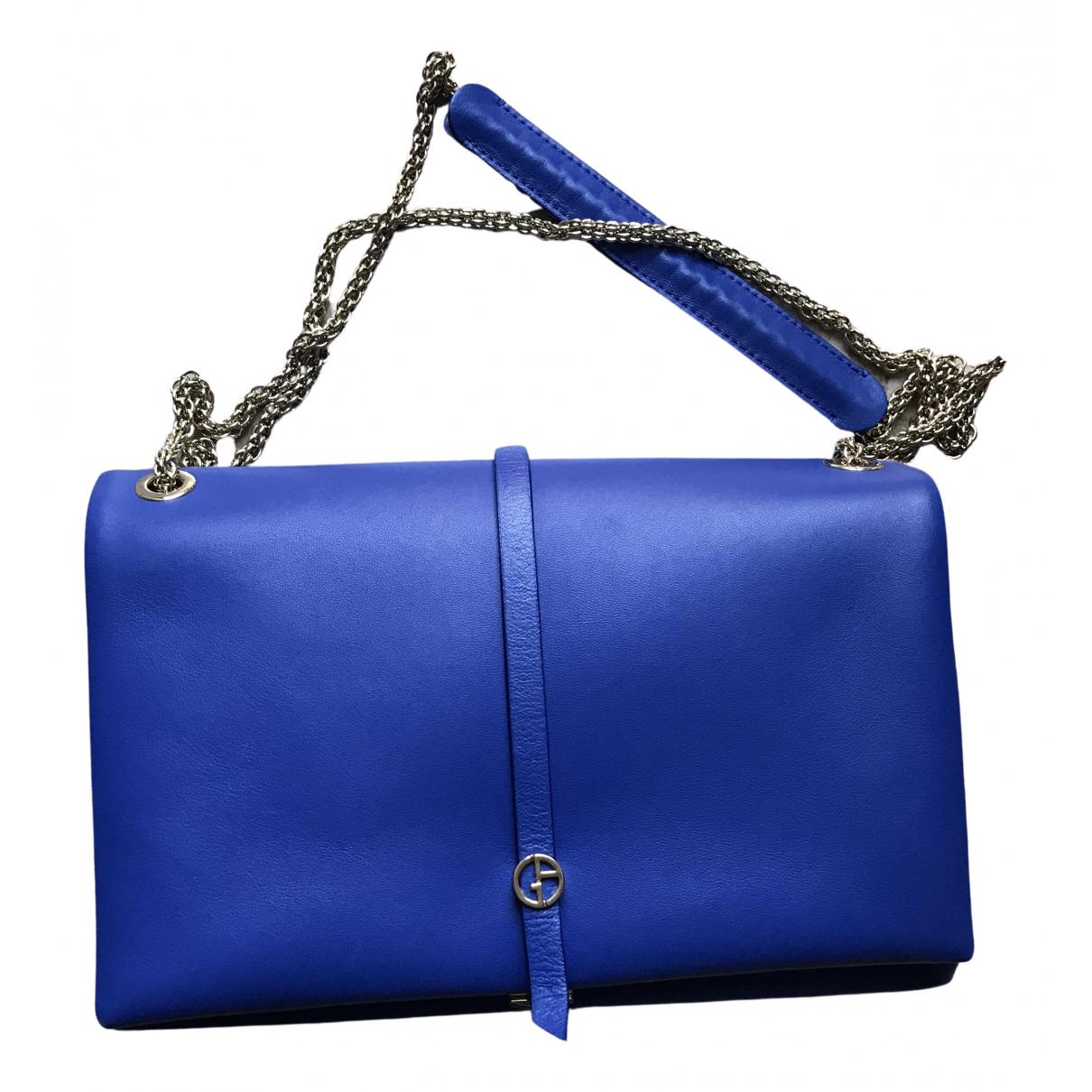 Giorgio Armani \N Clutch in  Blau Leder