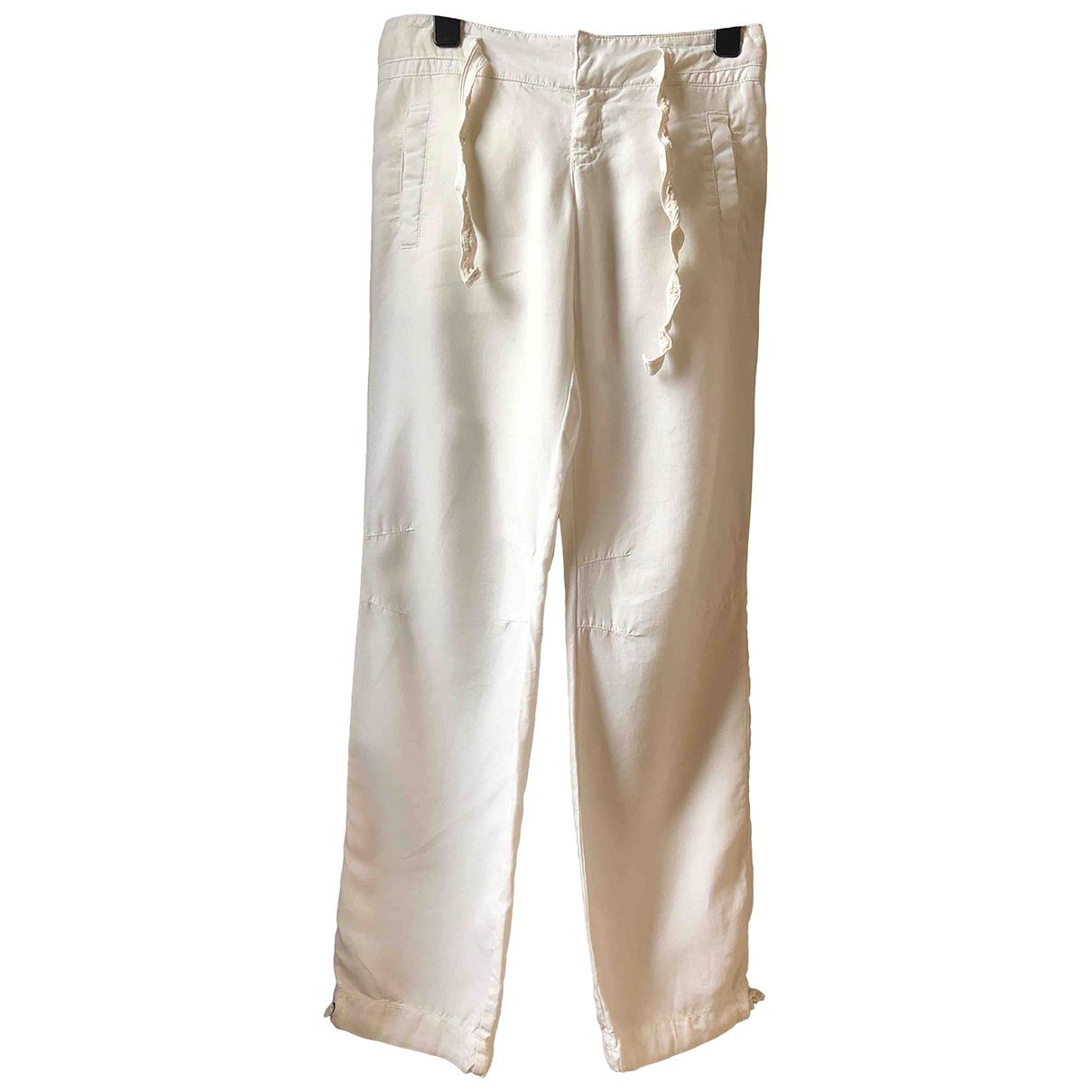 Boss N White Linen Trousers for Women 8 UK